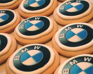 Corporate Logo Cookies BMW
