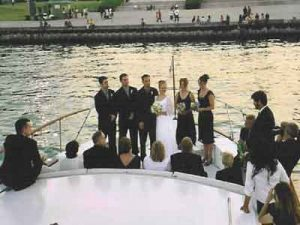The Sophisticated Lady  wedding yacht cruise