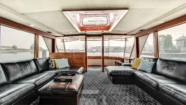 Couches on a yacht in Chicago IL