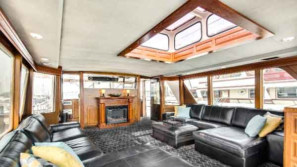 Lower deck of a yacht in Chicago IL